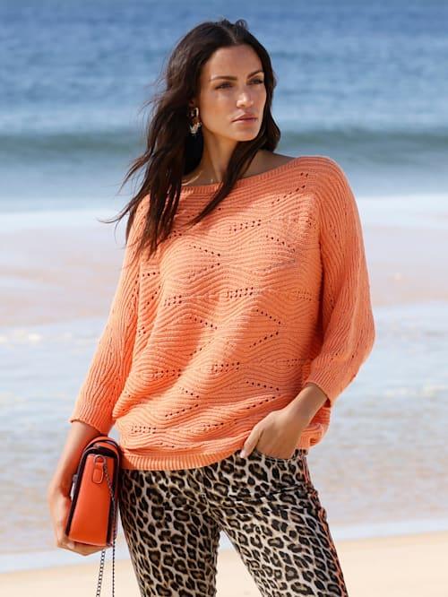 Pullover mit Fledermausärmel