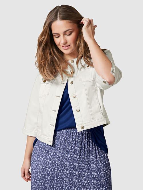 Jeansjakke i kort modell
