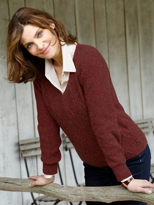 Jumper in a mélange knit