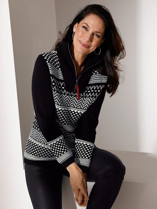 Pullover aus grafischem Jacquard