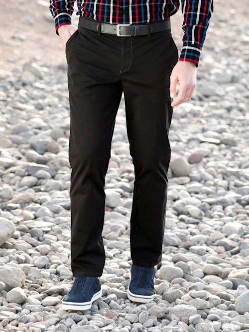 Pantalon chino avec poches dos passepoilées