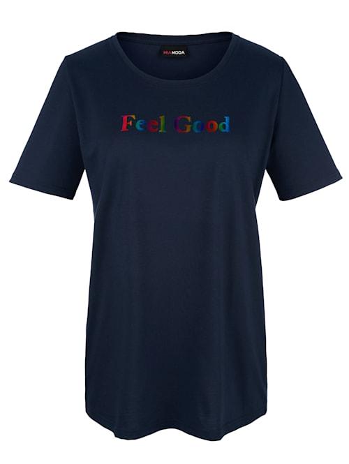 T-shirt à imprimé pelliculé