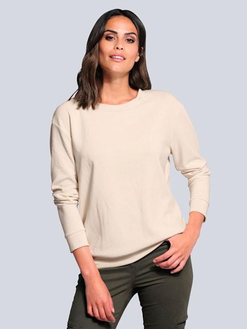 Sweatshirt in hochwertigem Materialmix