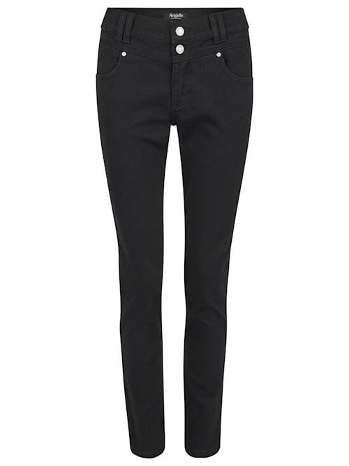 Jeans 'Skinny Button' mit Doppelknopf-Verschluss