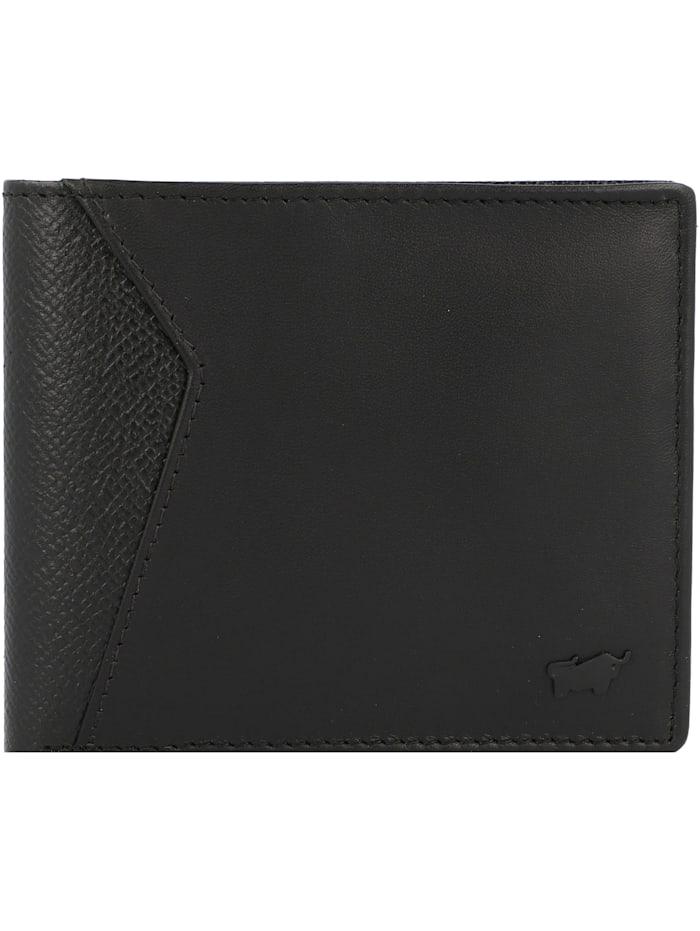 Braun Büffel Monza Geldbörse Leder 11 cm, schwarz