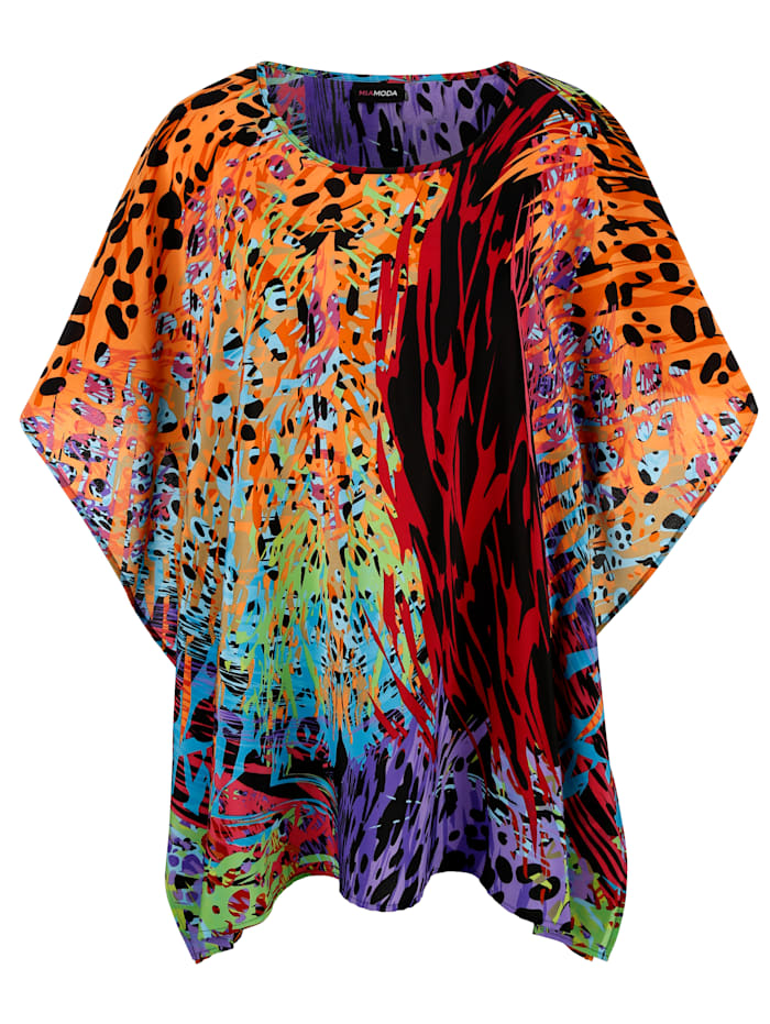 MIAMODA Tunika i neonfarger, Multicolor