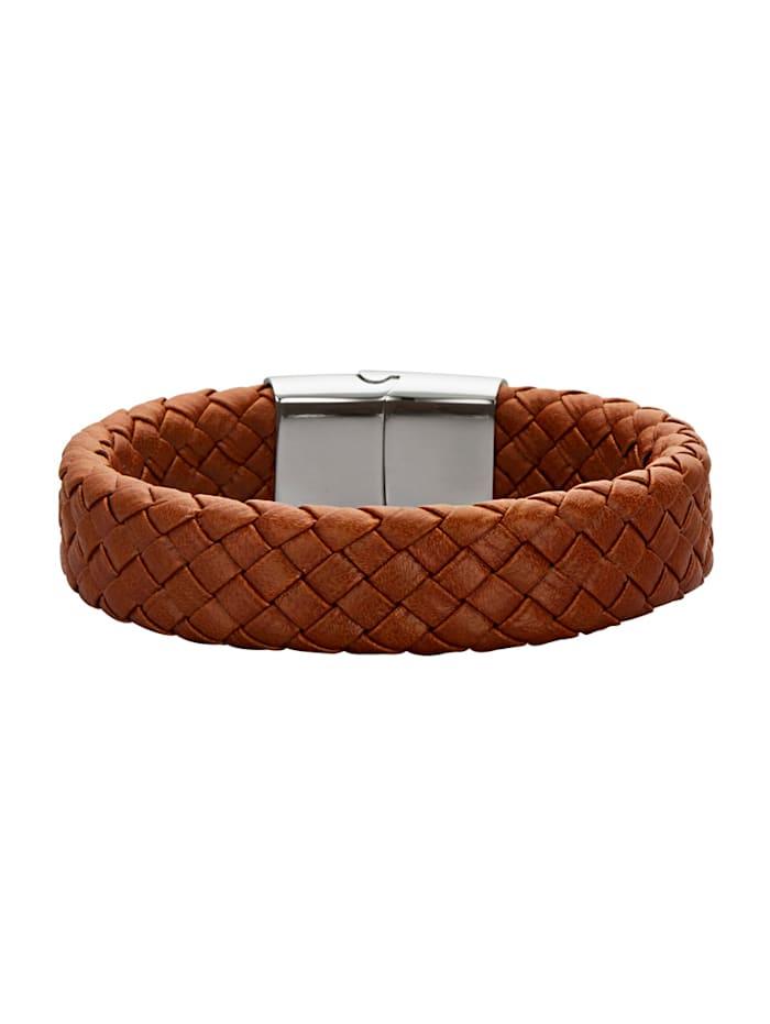 Leder-Armband, Edelstahl mit Edelstahl