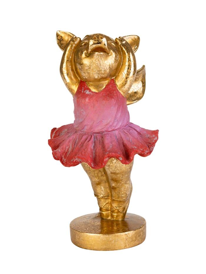 AM Design Deko-Schweinchen, rosa/goldfarben