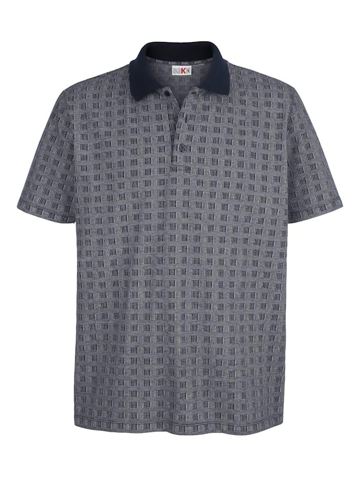 Poloshirt met jacquardpatroon rondom