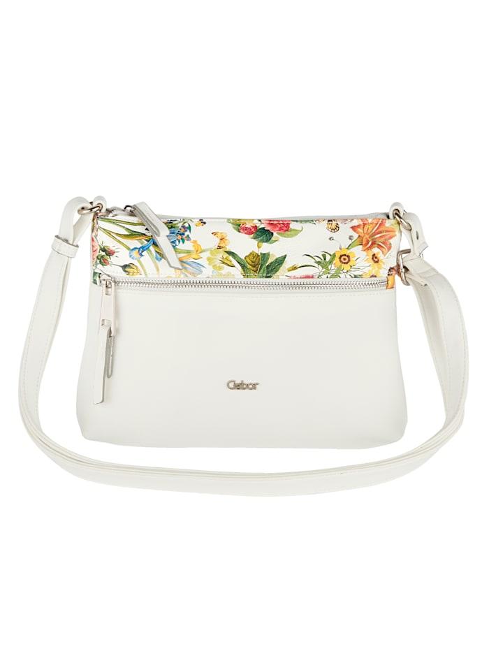 Shoulder bag with floral detailing