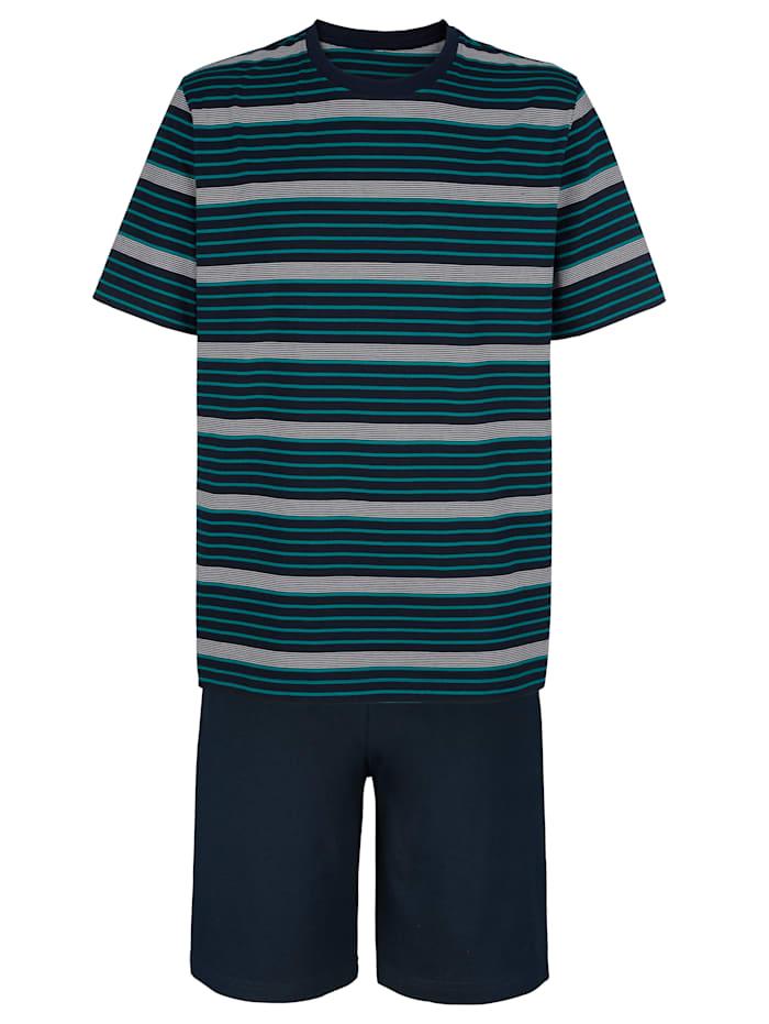 BABISTA Shorty mit garngefärbtem Streifen, Blau/Türkis