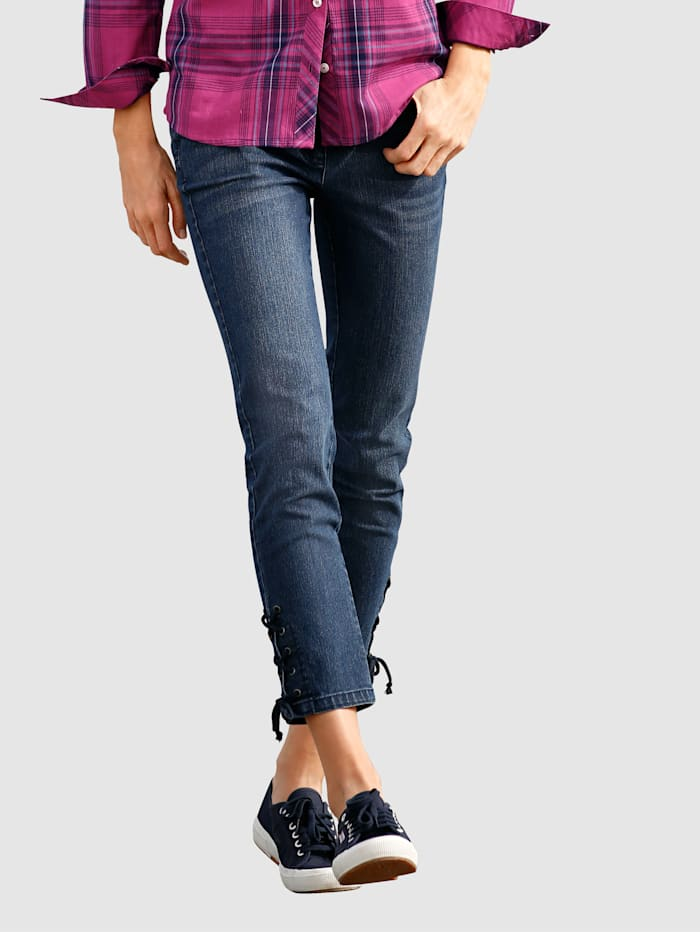 Dress In 3/4 Jeans in Laura Slim, Blau
