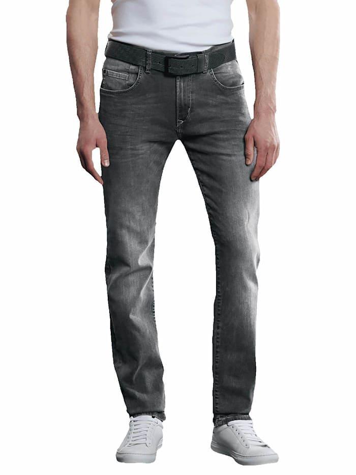 Engbers Jeans straight, Zementgrau