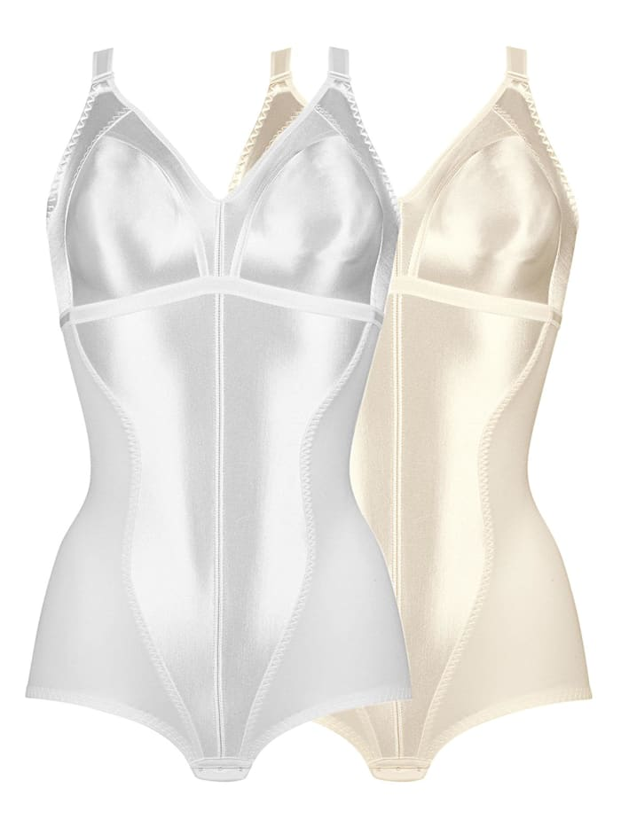 Naturana 2er Sparpack Minimizer Body, Champagner-Weiss