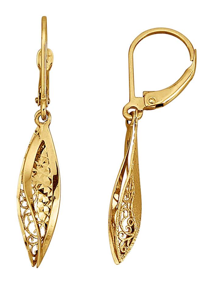 Ohrringe in Gelbgold 375, Gelbgoldfarben