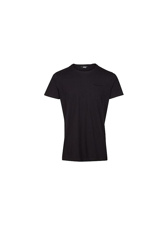 Solid T-Shirt Gaylin mit klassischer Brusttasche, BLACK