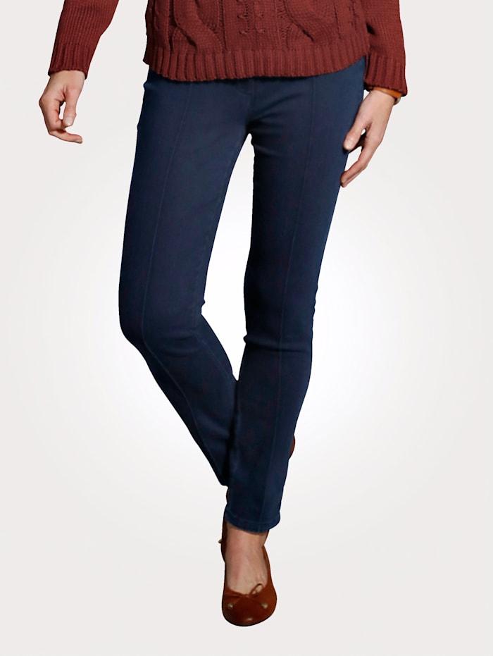 MONA Jeans met bies voor, Donkerblauw