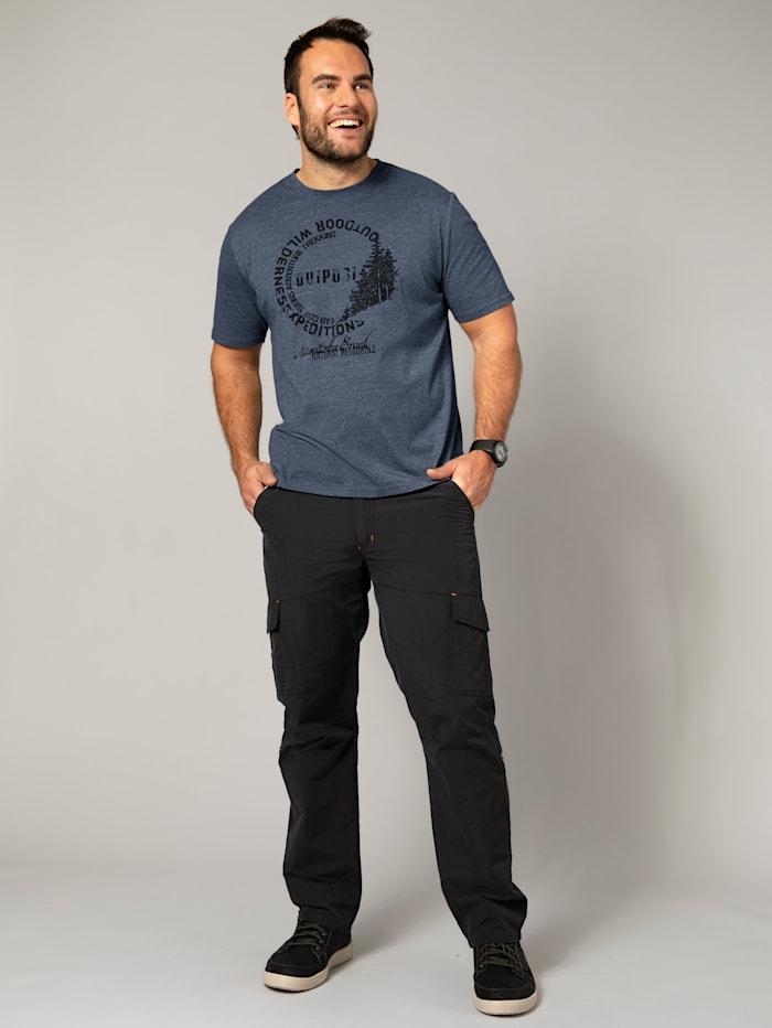Men Plus T-shirt, Rookblauw