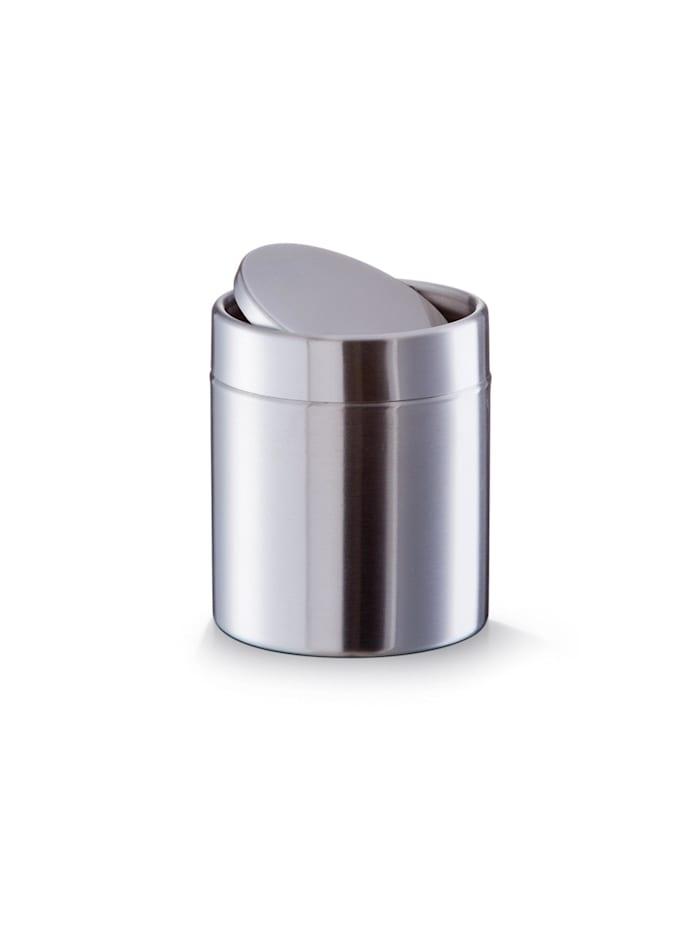 Neuetischkultur Tischabfalleimer Edelstahl, Silber
