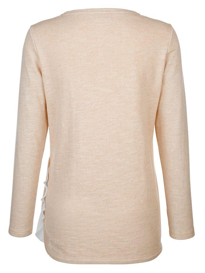 Shirt mit metallisiertem Garn