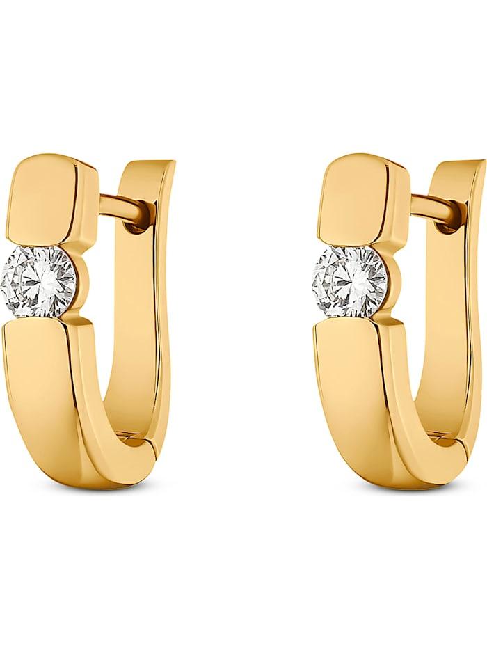 CHRIST Diamonds CHRIST Diamonds Damen-Creolen 2 Diamant, gelbgold