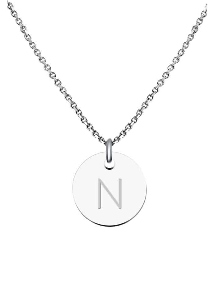 GOOD.designs Kette mit Anhänger Edelstahl Halskette N, silber