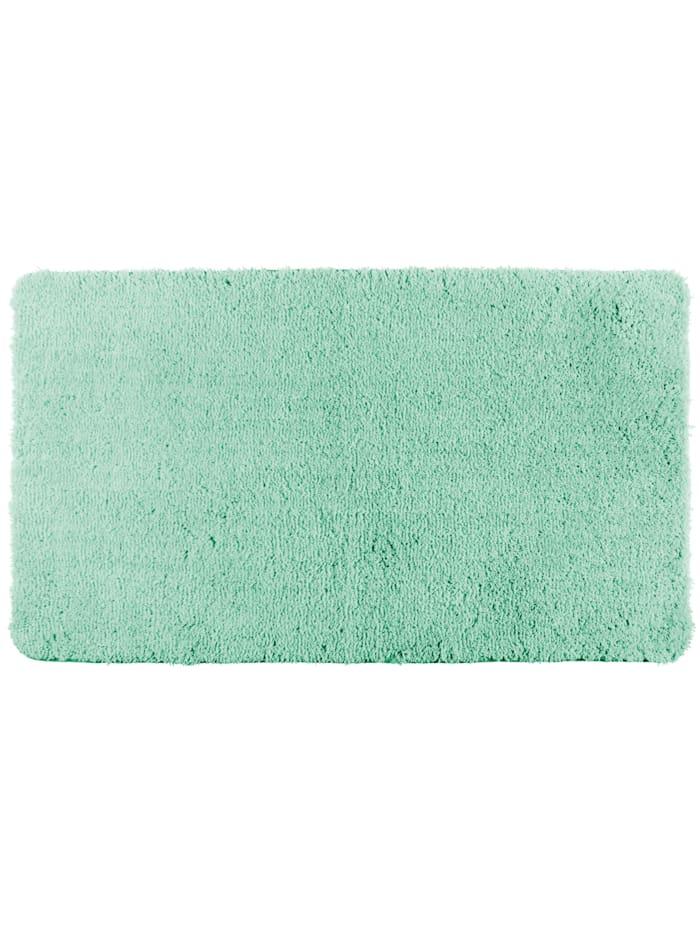 Wenko Badteppich Belize Turquoise, 60 x 90 cm, Mikrofaser, Polyester/Mikrofaser: Türkis