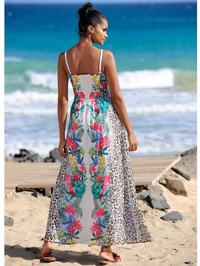 Strandkleid mit gesmoktem Oberteil