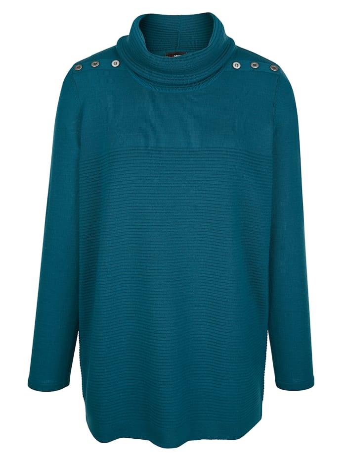 Pullover mit halsfernem Kragen