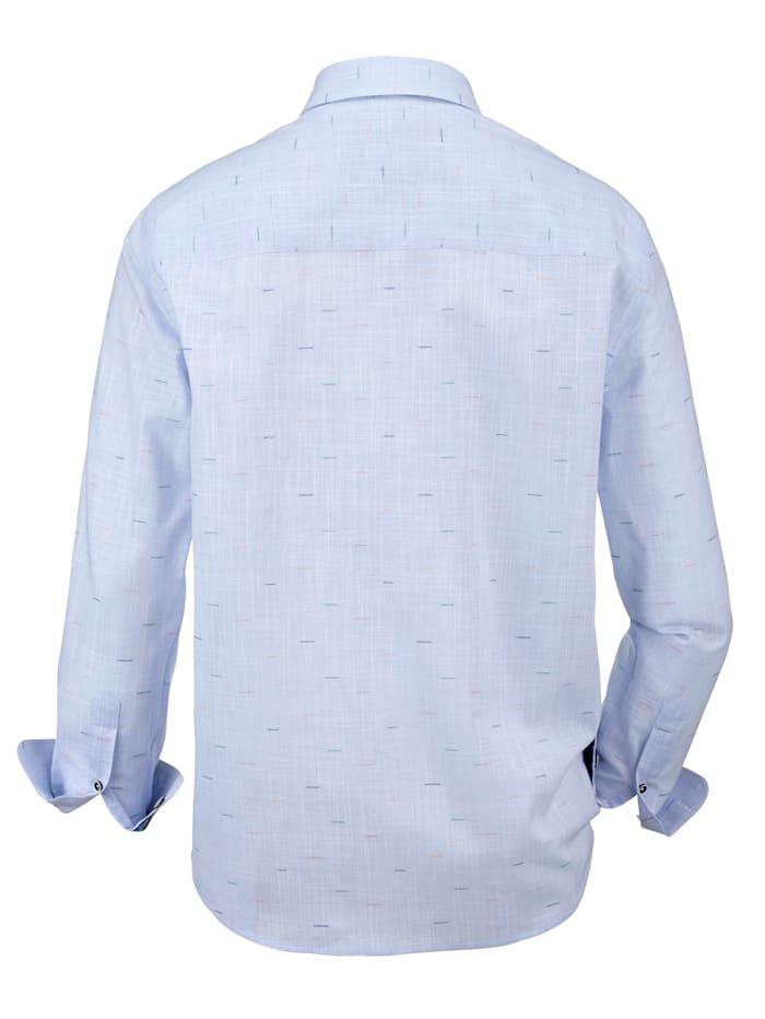 Overhemd met effectgaren