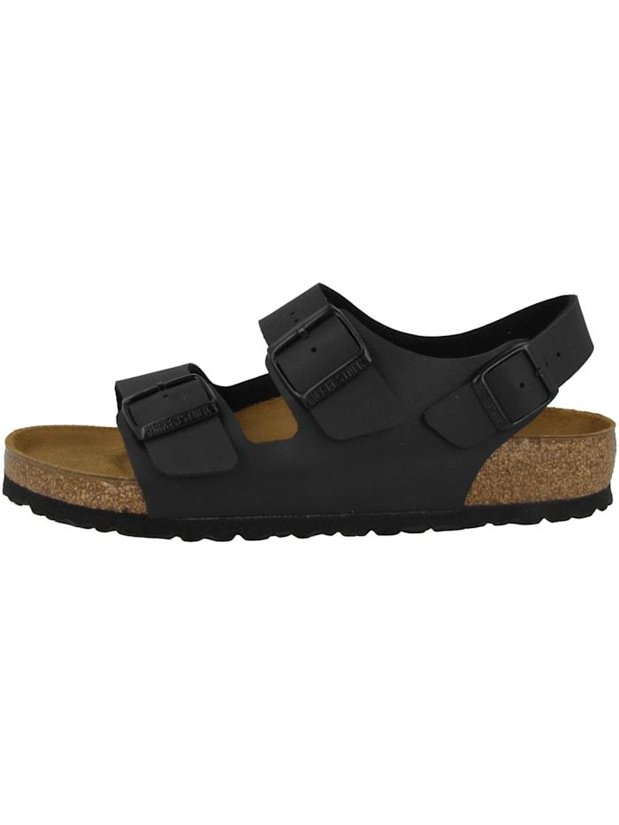 Birkenstock Sandale Milano Birko-Flor normal, schwarz