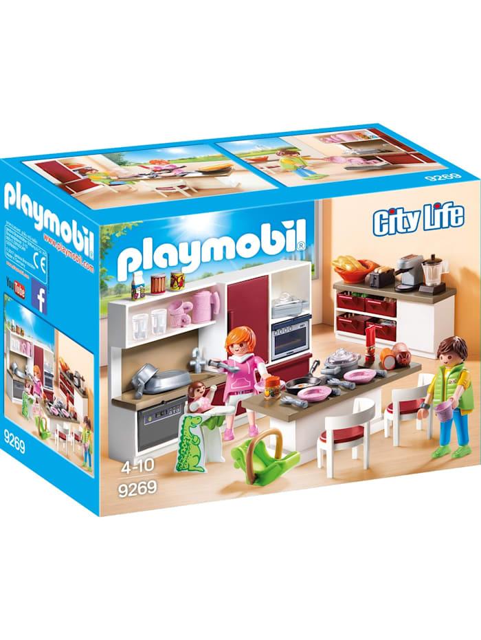 PLAYMOBIL Konstruktionsspielzeug Große Familienküche, bunt/multi