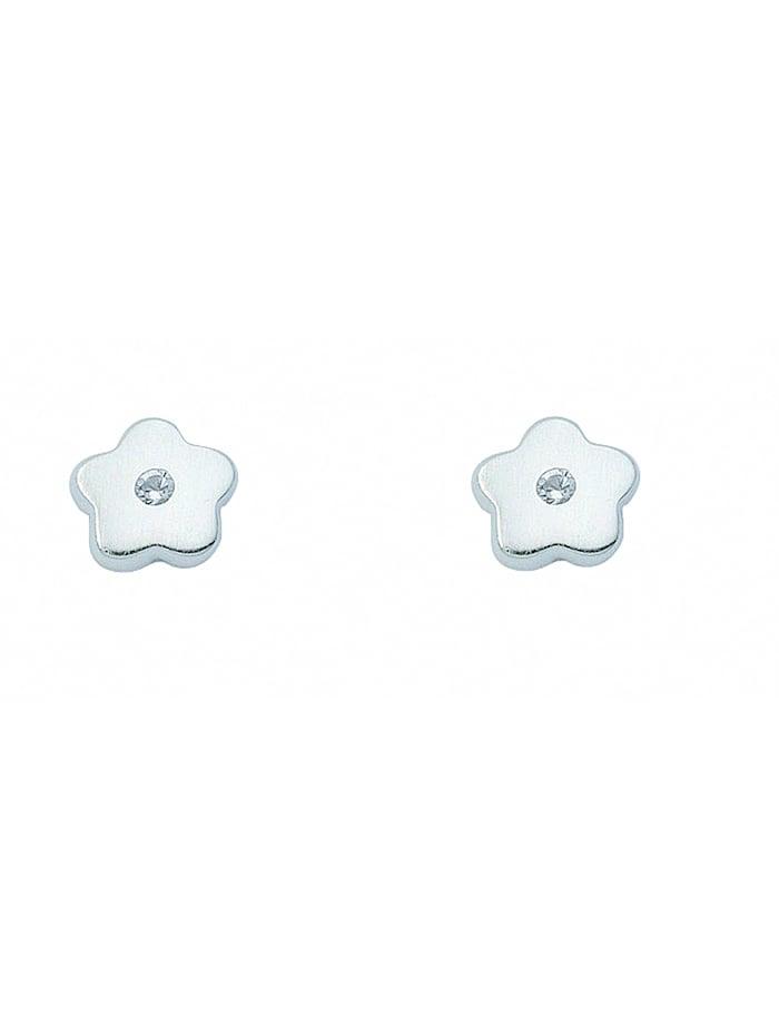 1001 Diamonds Damen Silberschmuck 925 Silber Ohrringe / Ohrstecker Blüte mit Zirkonia, bunt