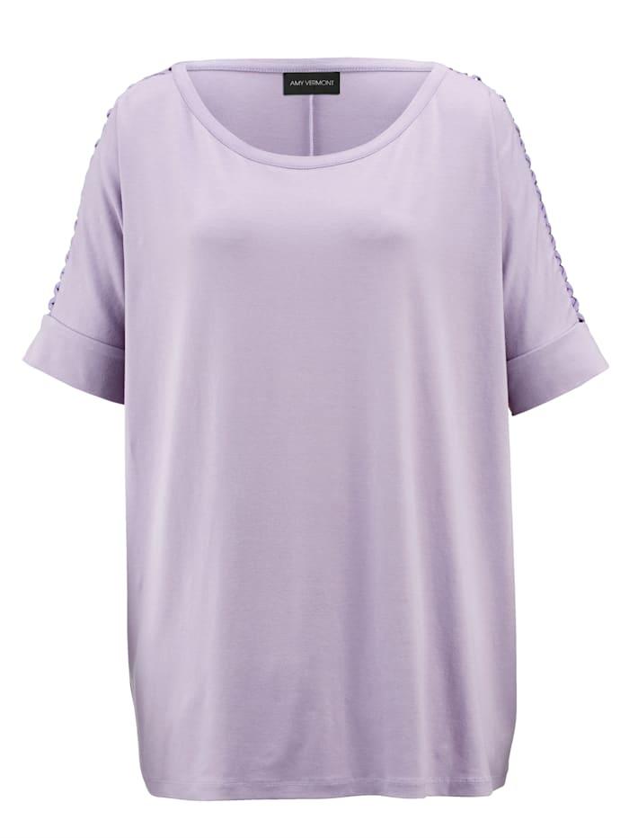 Shirt mit Cut-Out und Schnüreffekt