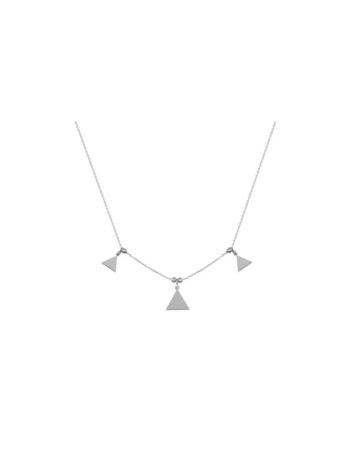 Dkeniz Silberkette Dreieck Kette Silber, silber