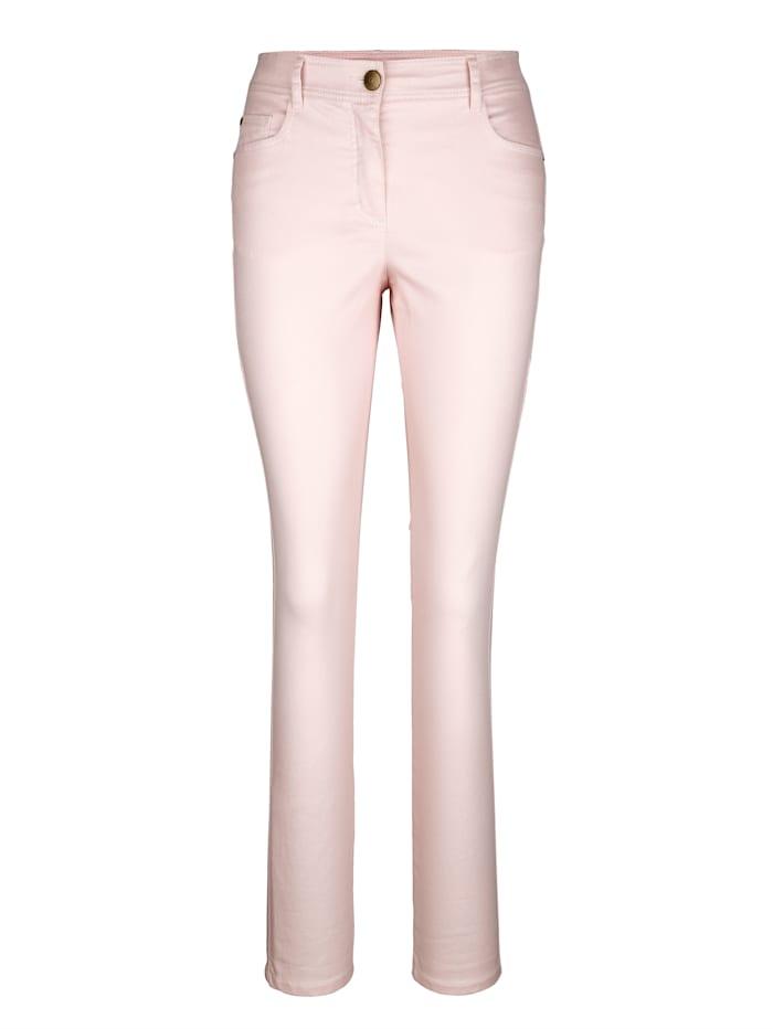 Pantalon à enduction brillante