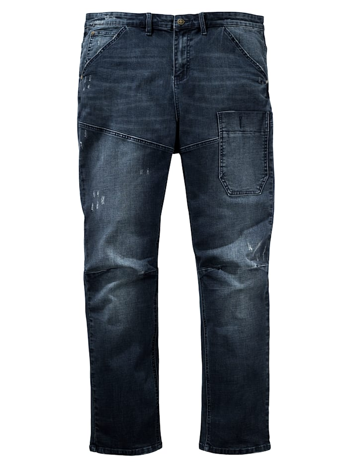 Men Plus Jeans in 5- Pocket Form, Dark blue