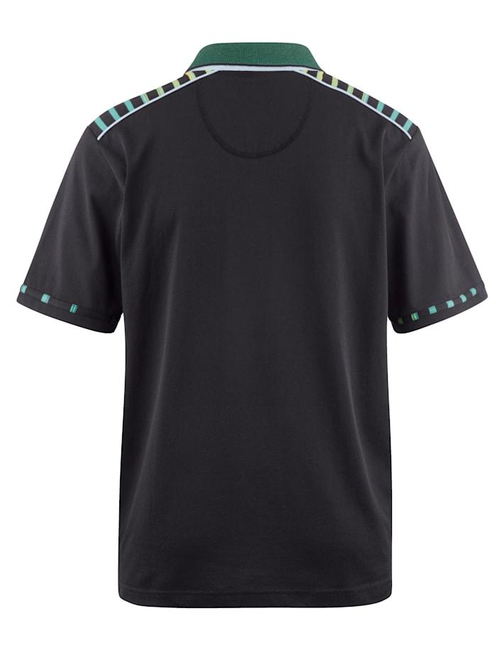 Poloshirt mit veredelter Baumwolle und feinster Microfaser