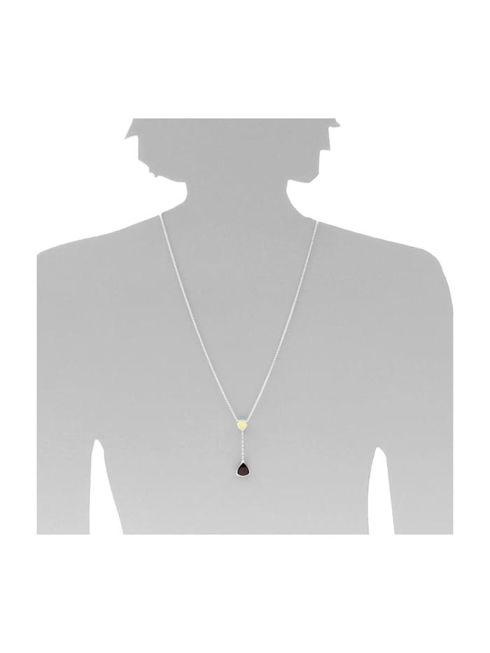 Kette mit Anhänger - Marissa - Silber 925/000 - Bernstein