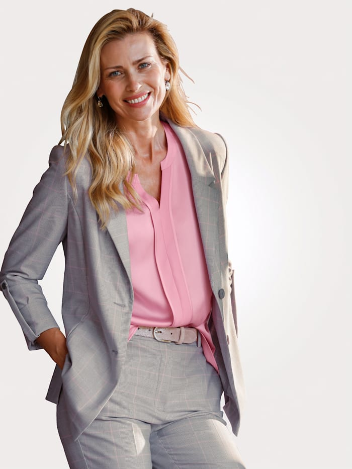 MONA Blazer in a fashionable design, Grey/Rosé/White