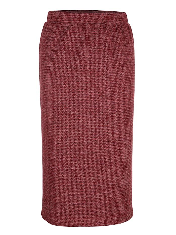 Jersey rok van gemêleerd materiaal