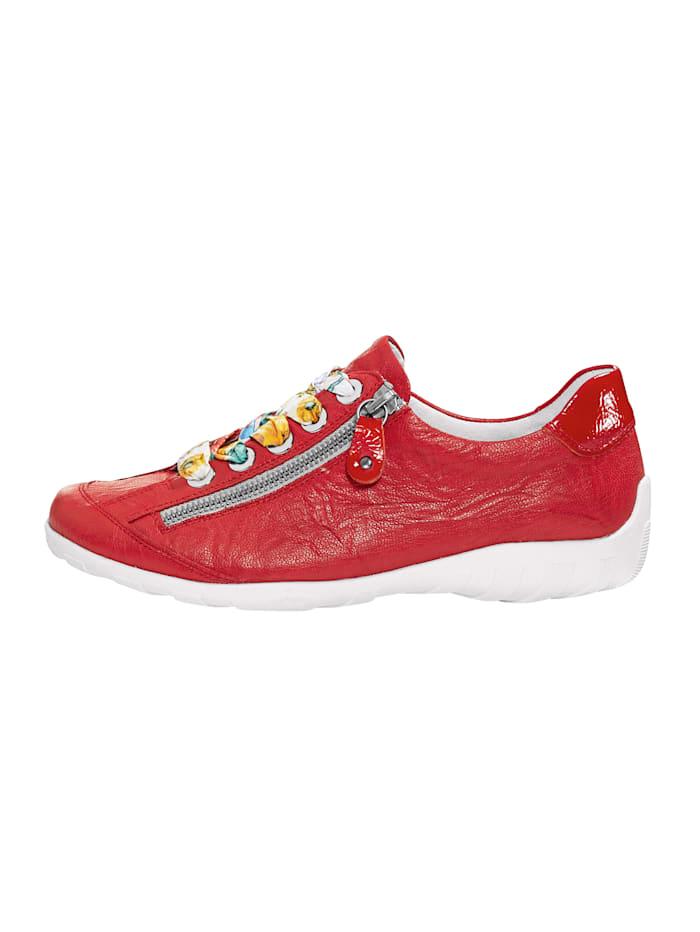 Schnürschuh mit separaten Paar roter Schnürsenkeln