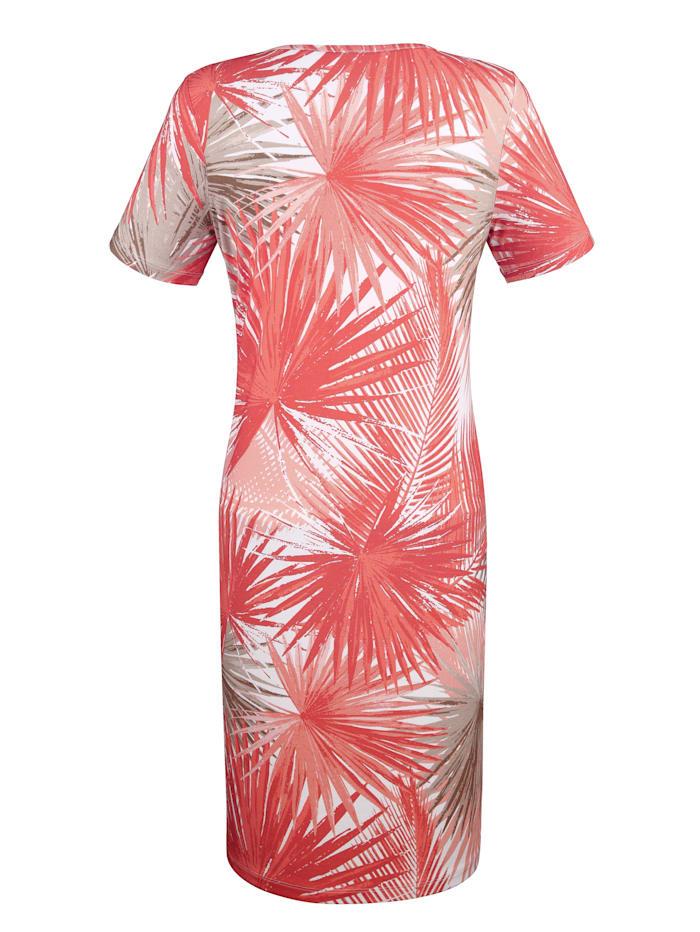 Lehtikuvioitu mekko