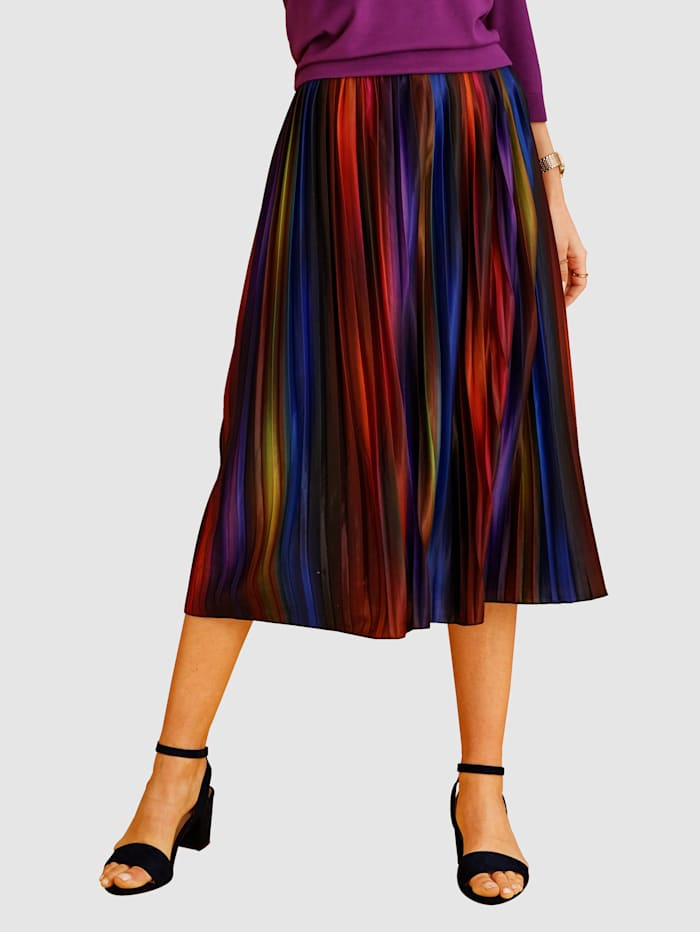 MONA Plisé sukňa v pohodlnom strihu, Multicolor