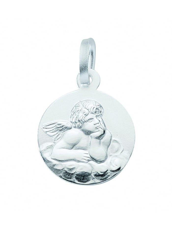 1001 Diamonds Damen Silberschmuck 925 Silber Anhänger Amor Ø 14,2 mm, silber