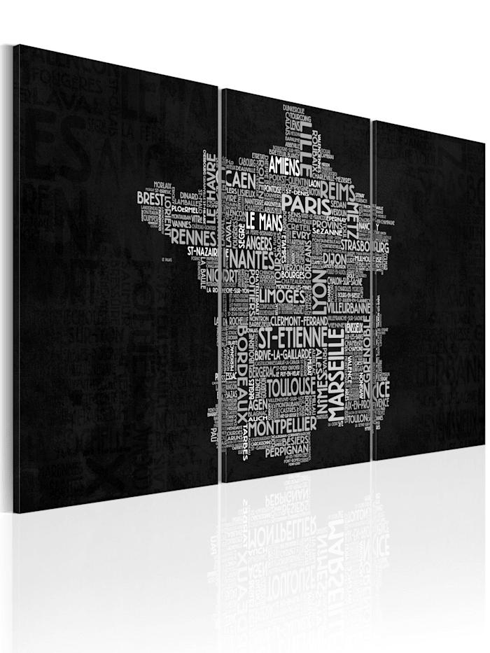 artgeist Wandbild Von Montpellier nach St-Etienne (schwarz-weiß), schwarz-weiß