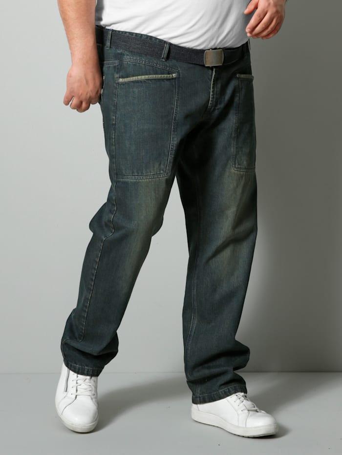 Men Plus Jeans Spezialschnitt, Dunkelgrün/Blau