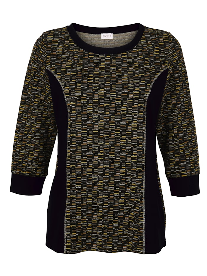 Jumper in a graphic jacquard pattern