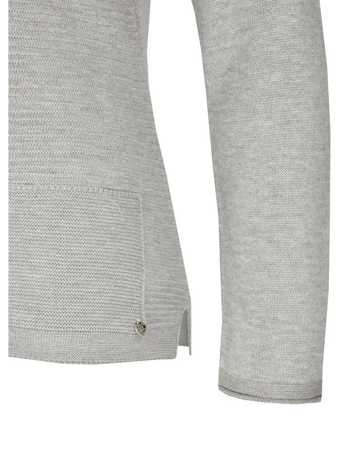 Pullover im Uni-Design und Rippenstrick