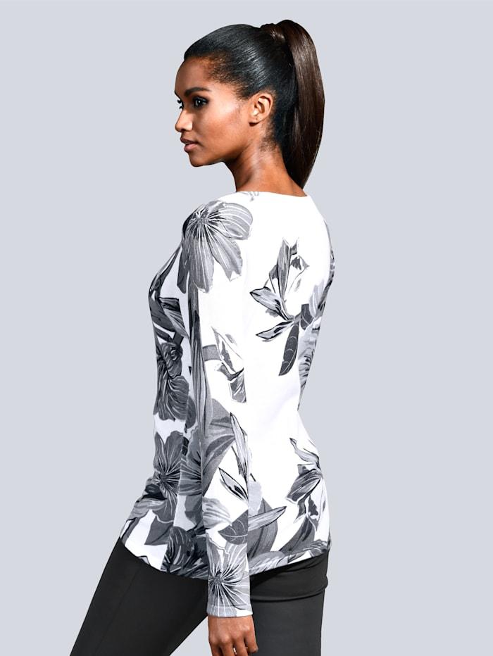 Pullover mit großflächigem Print